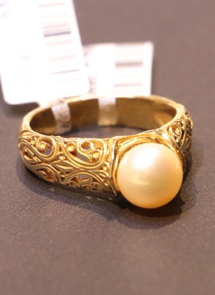 انگشتر طلای زنانه مروارید