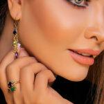 انگشتر multi- طلا و جواهری حقانی
