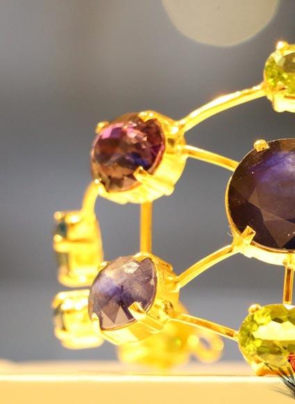 دستبند 21 مولتی جم- طلا و جواهری حقانی