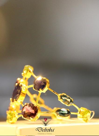 دستبند 21 مولتی جم2- طلا و جواهری حقانی
