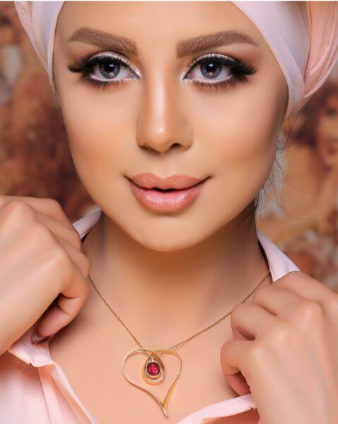 آویز طلای زنانه دل آرام