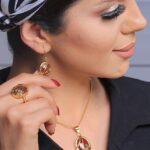 نیم ست آناهیتا عقیق- طلا و جواهری حقانی