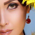 گوشواره رویال عقیق- طلا و جواهری حقانی
